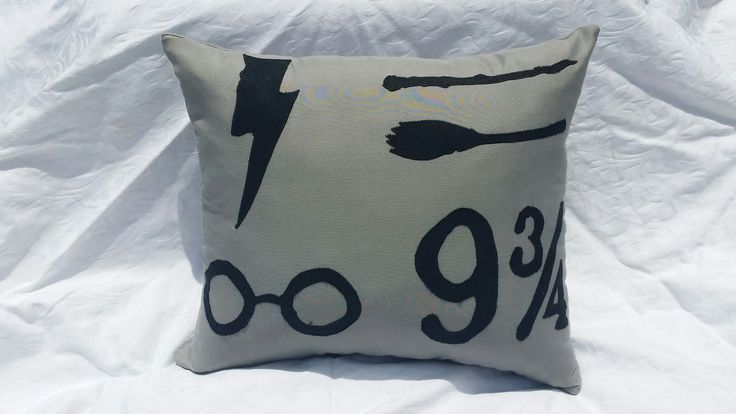 Harry Potter themed applique throw pillow