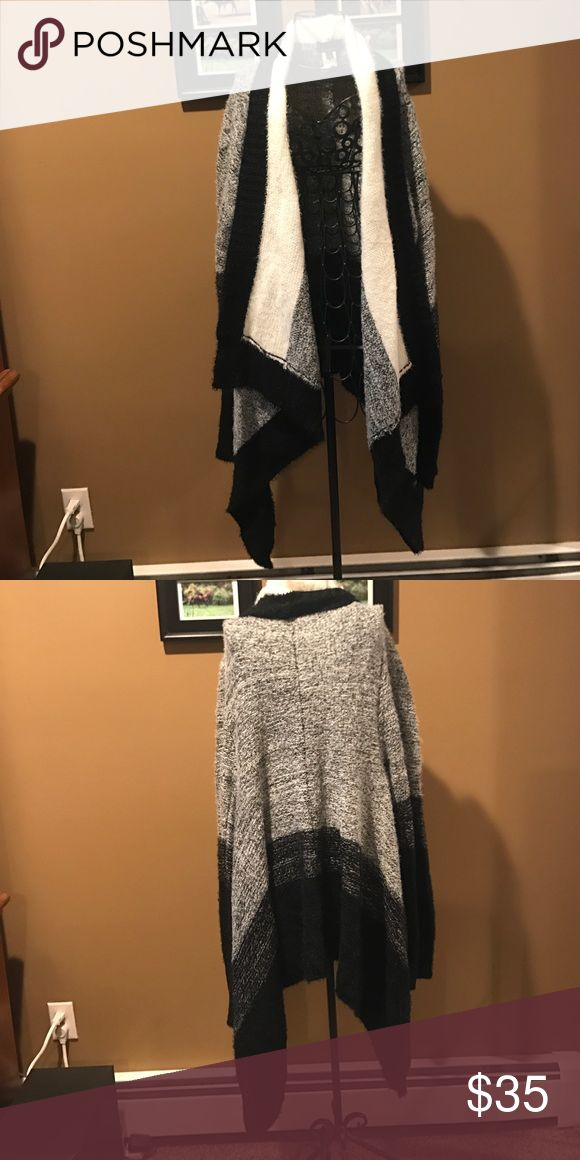 Black and gray cardigan Long black and gray cardigan Sweaters Cardigans