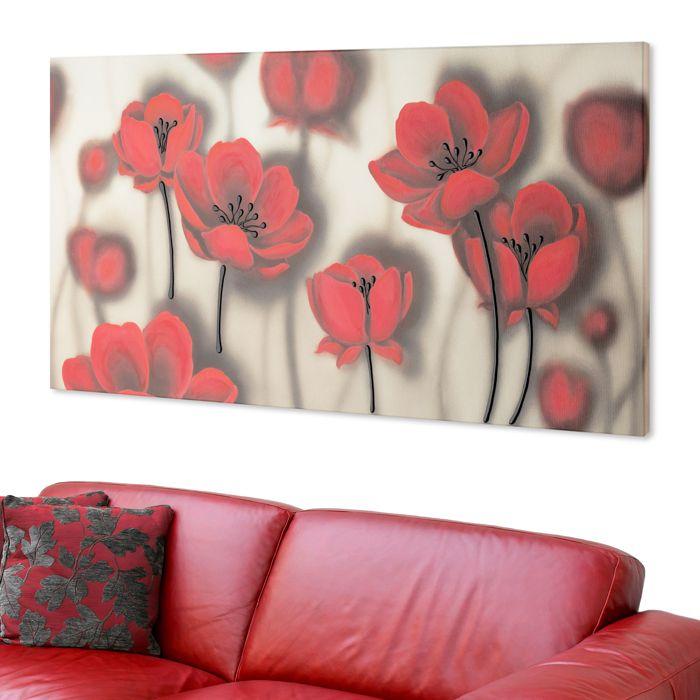 #PINTDECOR # lieve #quadro #tulipani #design #arredo #arte #madeinitaly #flowers #tela #collezione2016 #papaveri #red #rosso #complementi #d'arredo