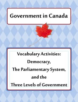 Canada's Government - Vocabulary Activities