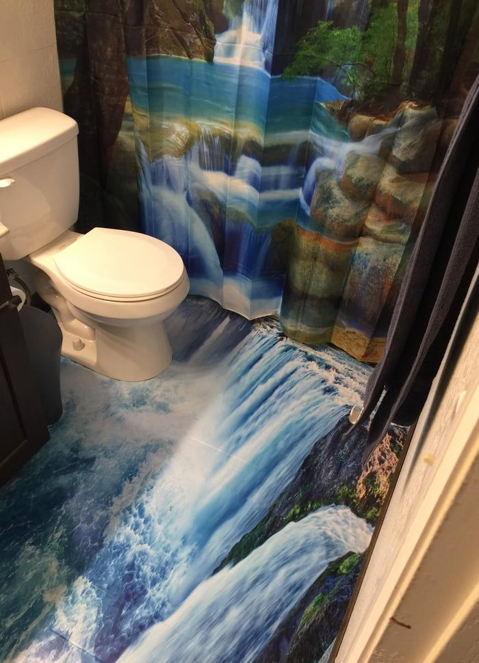 My Waterfall Bathroom 3d Floor Art 3d Floor Art Floor Art Waterfall