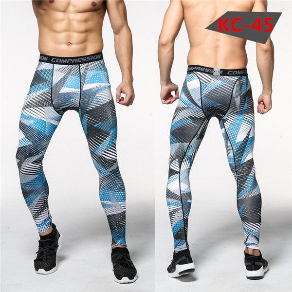 2016 Camouflage Pantalon Hommes Fitness Hommes Joggers Pantalon Mâle Pantalon De Compression Bodybuilding Collants Leggings