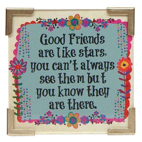 Natural Life Μαγνητάκι «Good Friends Are Like Stars»