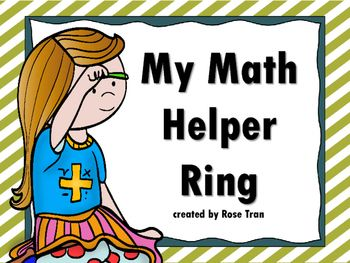 best math helper ideas math fractions math  new my math helper ring mini anchor chart math tool for 3rd 6th grade