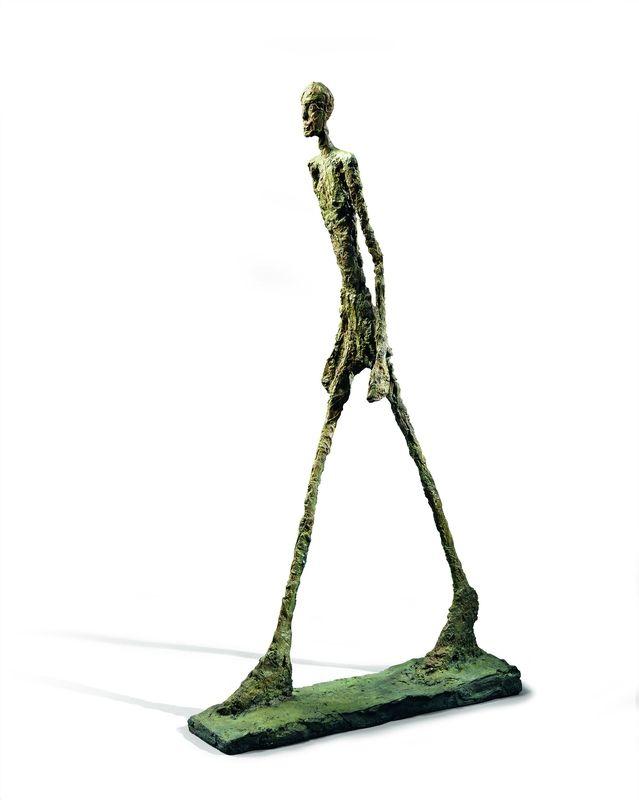 Alberto Giacometti, Homme qui marche II, 1960. Bronze, 188 ...