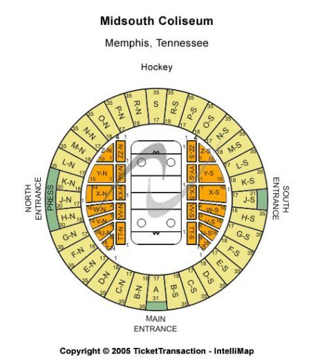 ... Memphis Tennessee, Mid-south Coliseum Seating Charts , Events and