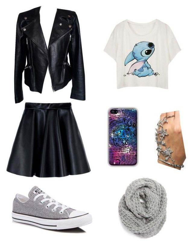 I don't even know why by becfinck on Polyvore featuring Alexander McQueen, MSGM, Converse and Halogen