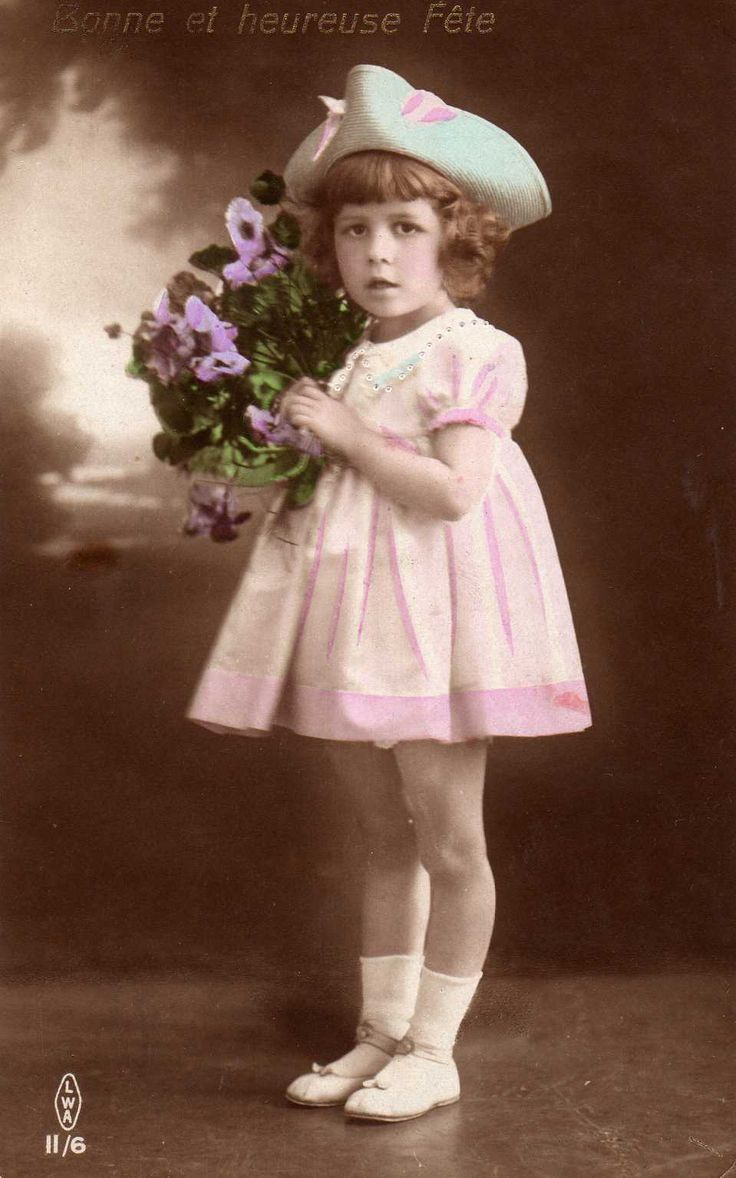 All sizes | Vintage Postcard ~ Little Girl | Flickr - Photo Sharing!