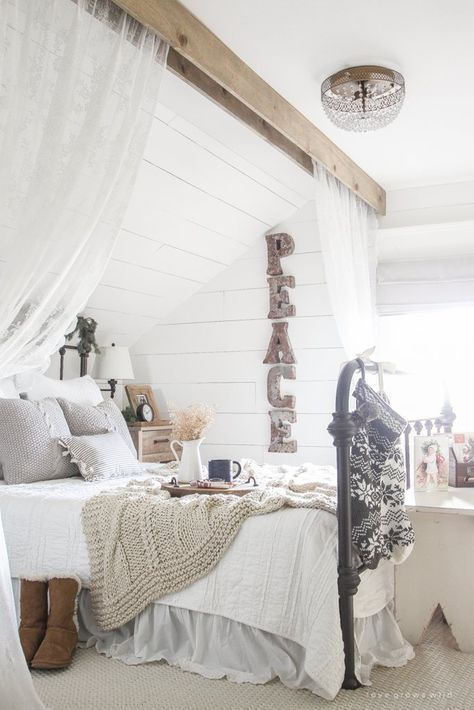When it comes to curtains, why stop at the windows? Hang a curtain around your bed to create a sheltered sa...