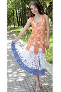 <p>С помощью узора из достаточно плотных шестигранников можно легко собрать полотно, которое становится привлекательным платьем выходного дня, при этом, используя принцип мозаики, рисунки создавать по своему желанию и вкусу.</p>