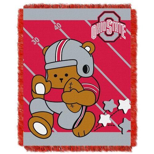 Ohio State University Buckeyes Baby Blanket Bedding Throw 36 x 46