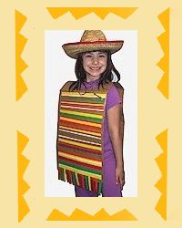 Kids craft make a Mexican Serapes / poncho #4th #cahistoryday #socialstudies use paper bags or brown butcher paper