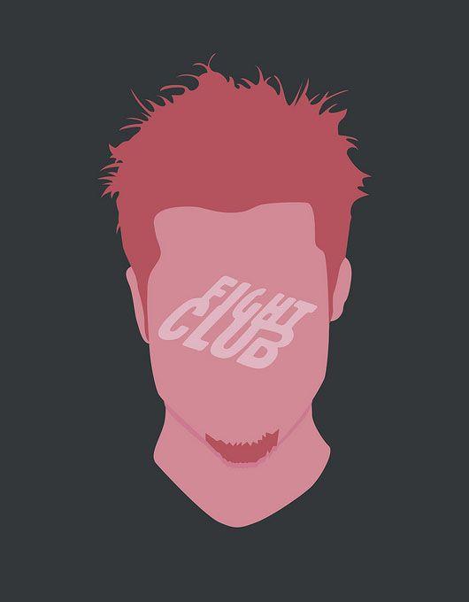 Clube da Luta cartaz minimalista