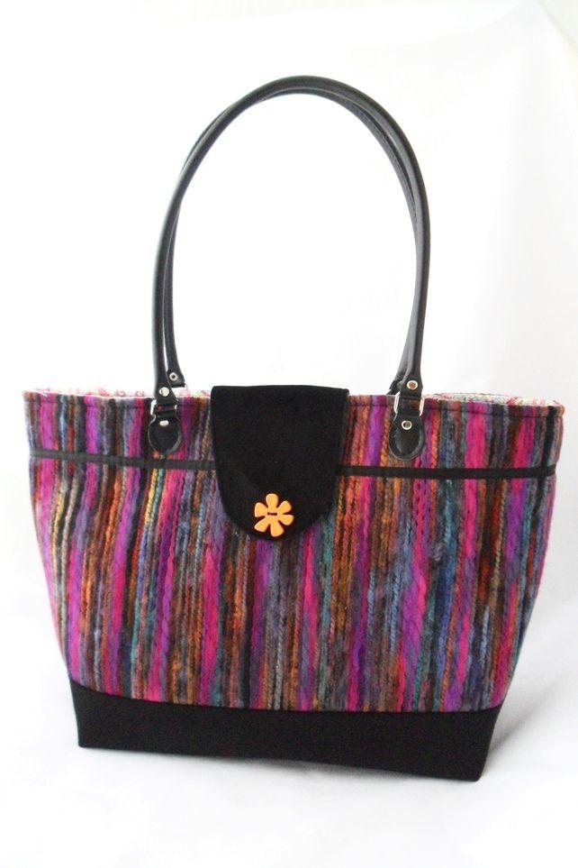 Multi-coloured tote bag £50.00