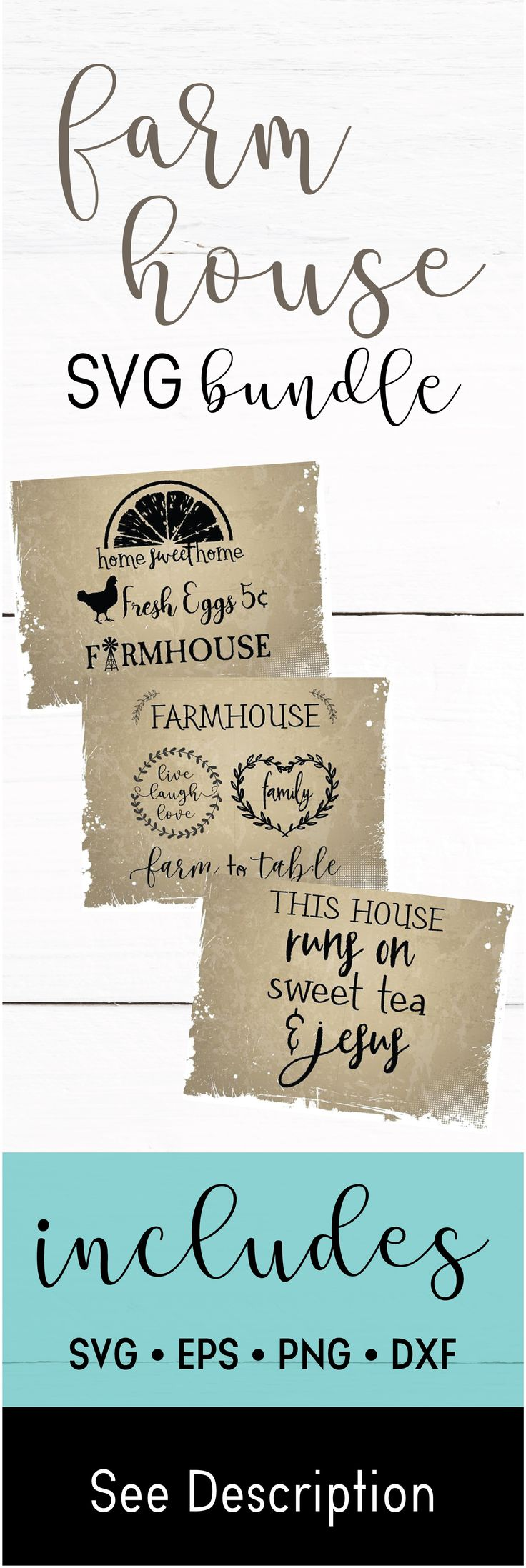 Farmhouse SVG Pack - Farmhouse Silhouettes - Sweet Tea Jesus svg - farm to table svg - fresh eggs svg - home sweet home svg, svg,eps,png,dxf