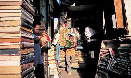 A book market in Cairo. (Photograph: Hemis / Alamy)