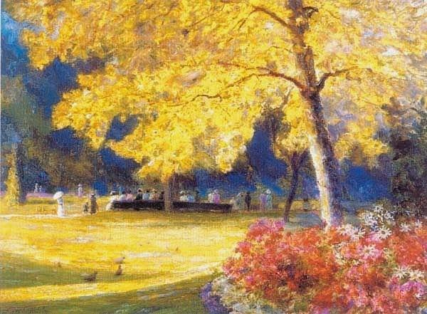 Jardin de Luxembourg. Alfredo Helsby (Chile)