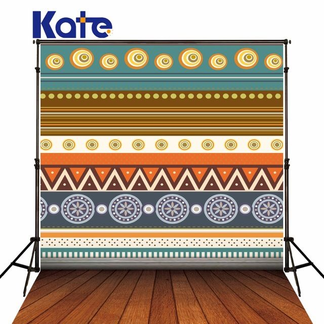 Kate  Retro Geometry Photo Backgrounds Stripe Photography Props Wood Floor Background Studio Backdrop For Photography fotografia