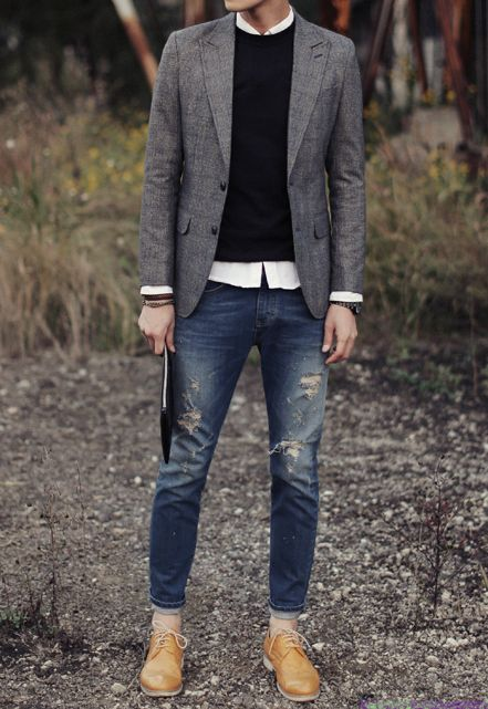 how to cut clean slit in jeans men