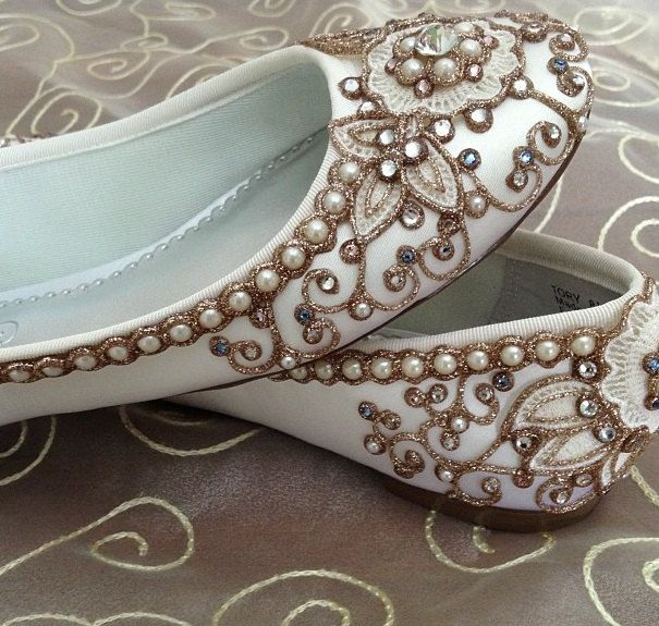 Cherry Blossom Bridal Ballet Flats Wedding Shoes by BeholdenBridal, $215.00