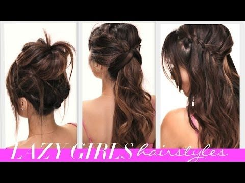 ★4 EASY Lazy Girls BACK-TO-SCHOOL HAIRSTYLES | CUTE HAIRSTYLE | BRAIDS + MESSY BUN - YouTube