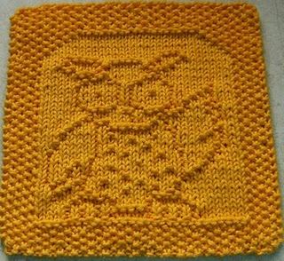 Owl dish cloth - free pattern