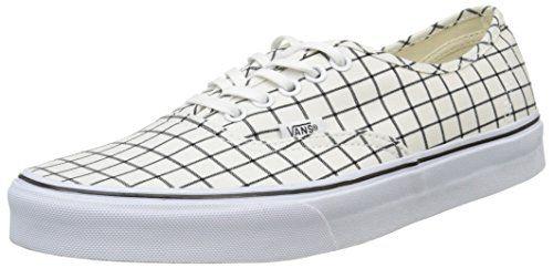 Vans Authentic, Unisex-Erwachsene Sneakers, Weiß (grid/true White), 37 EU - http://on-line-kaufen.de/vans/37-eu-vans-authentic-unisex-erwachsene-sneakers-85