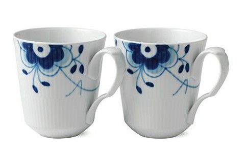 Blue Fluted Mega 12.25 oz. Mugs