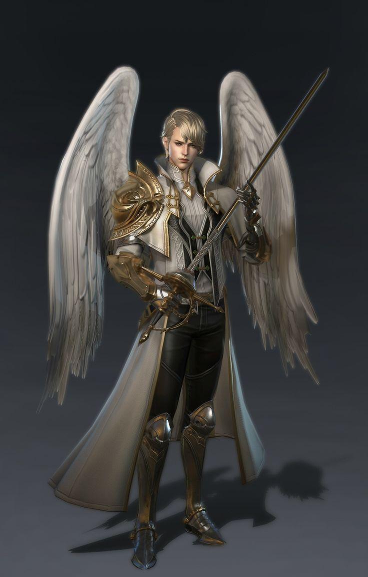 Картинка мужчина с крыльями хвостом когтями используют