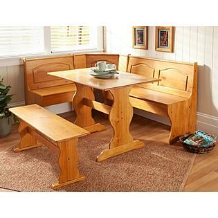 Essential Home Emily Breakfast Nook Pine Kmart Item 021W002687538003 180 MORE SETS IN THAT
