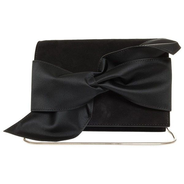VICTORIA BECKHAM Mini Bow Clutch ($1,726) ❤ liked on Polyvore featuring bags, handbags, clutches, victoria beckham handbags, mini purse, chain strap purse, evening handbags and mini handbags