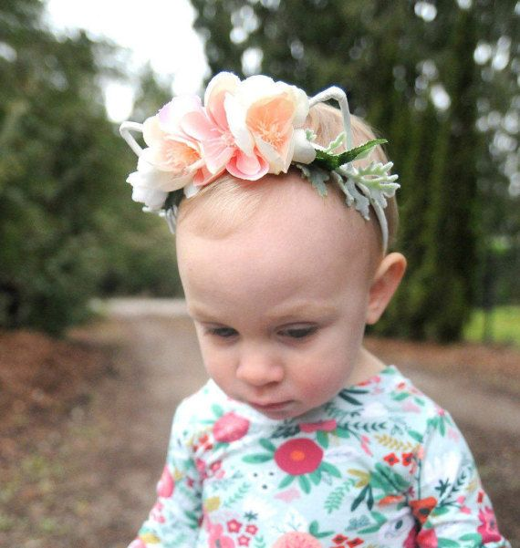 Toddler Flower Crown, Baby Flower Crown, Cat Ears Headband, Girls Floral Crown, Girls Cat Ears, Pink Floral Crown, Flower Girl Crown