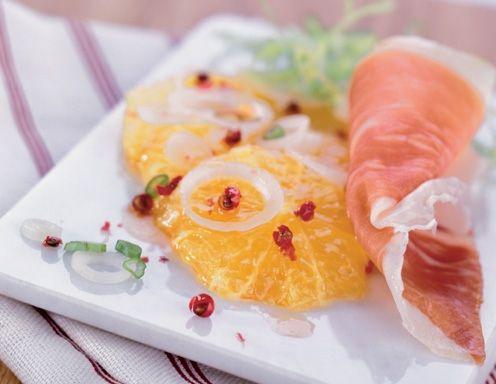 Orangensalat mit San-Daniele-Schinken - Rezept - ichkoche.at