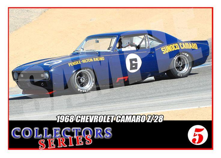 1968 Chevrolet Camaro # 6 Trading Card- SCCA Racing Trans Am - Mark Donohue | eBay