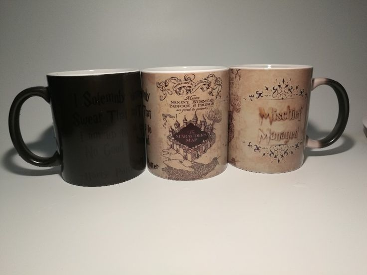 Harry Potter Mugs Marauders Map Mug Mischief Managed Mug Heat Changing Color
