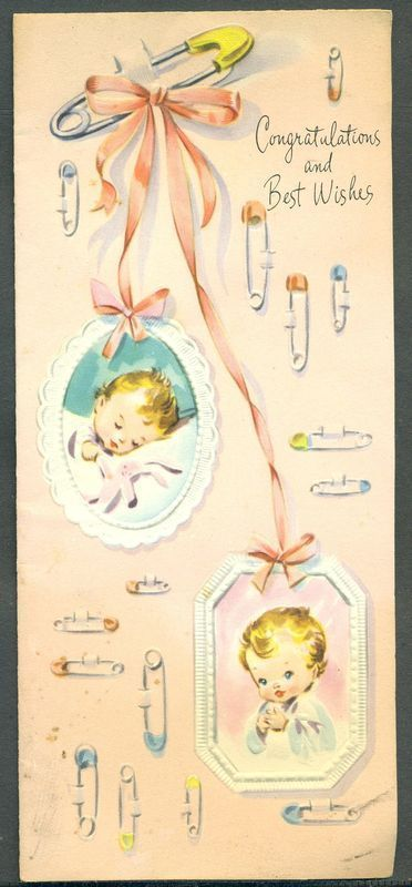 Congratulations & Best Wishes.  Ah.. those old diaper pins.  My mom had a ton...