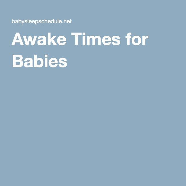 Awake Times for Babies
