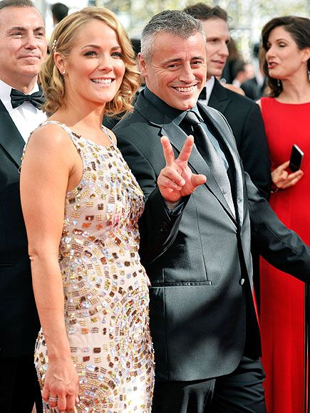 OLD 'FRIEND':  How you doin'? Matt LeBlanc, who's nominated for lead actor in a comedy series for his role on Episodes, peacefully hits the red carpet with girlfriend Andrea Anders.