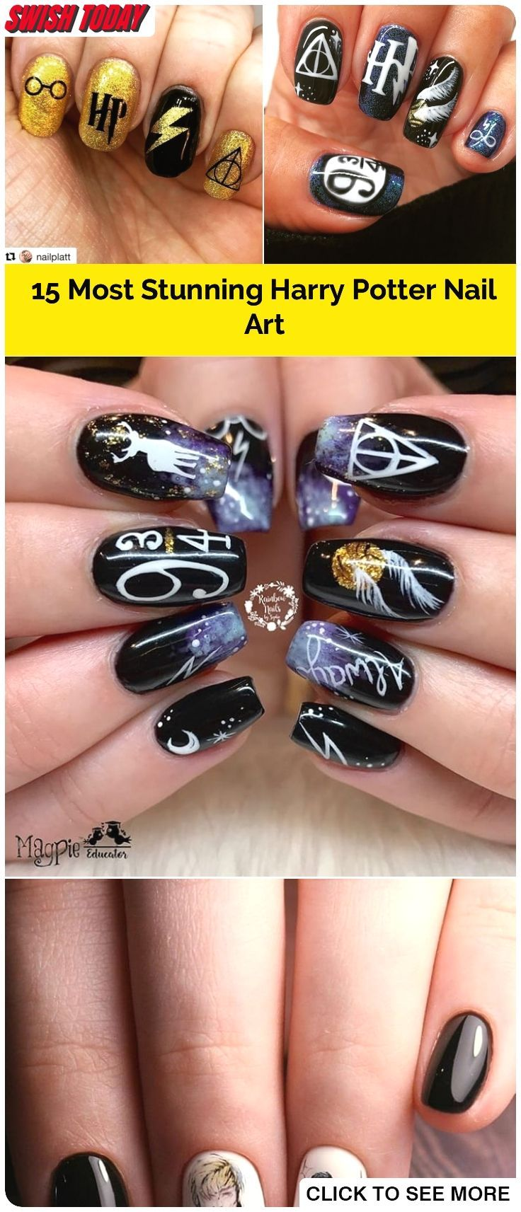15 Most Stunning Harry Potter Nail Art You Must Try