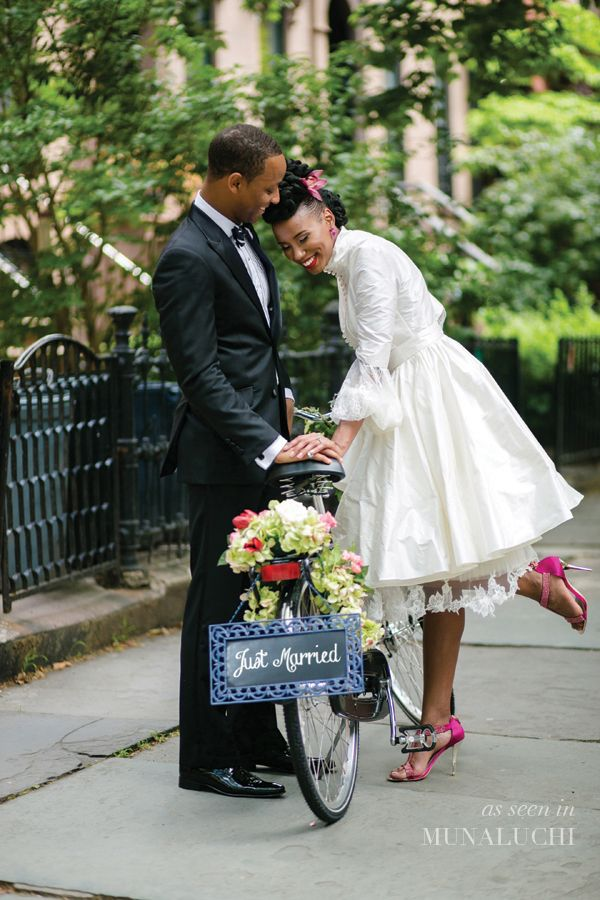 Beautifully stylish 'vintage meets modern' black bride/bride of colour styled…