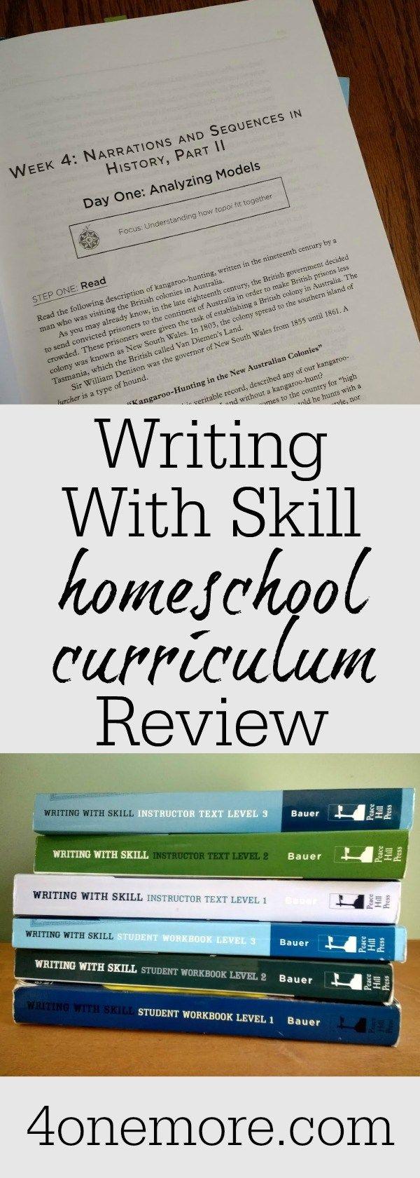 Writing With Skill Homeschool Curriculum Review Homeschool Curriculum Reviews Homeschool Writing Curriculum Writing Curriculum [ 1680 x 600 Pixel ]