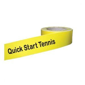 Quick Start Tennis Line Tape - 4 Rolls - 1.5 inches x 72 ft. each by On Court Off Court. $49.86. Quick Start Line Tape is the newest Oncourt Offcourt solution to creating boundary lines for USTA's Quick Start Tennis programs. Not available in any hardware store, this special paper-backed vinyl tape has a unique residue-free acrylic adhesive. And in