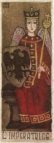 """La Corte dei Tarocchi  Creado por Anna Maria D'Onofrio.  Tarot en formato tradicional de 78 cartas.  Edición Limitada y numerada de 1100 ejemplares  Publicado por """"Il Meneghello"""" (Milán, Italia) en 1999"""