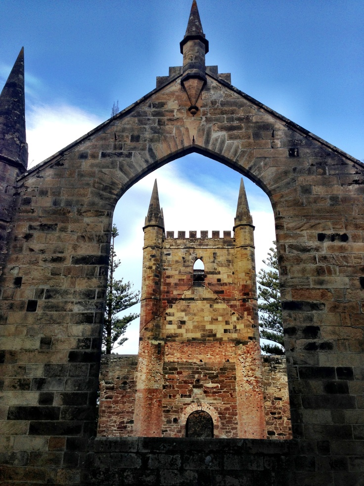 Port Arthur, Tasmania I stood in this amazing ruin today. Also went to the Island of the dead. The wind howled and then1000 or more souls buried there seemed present.