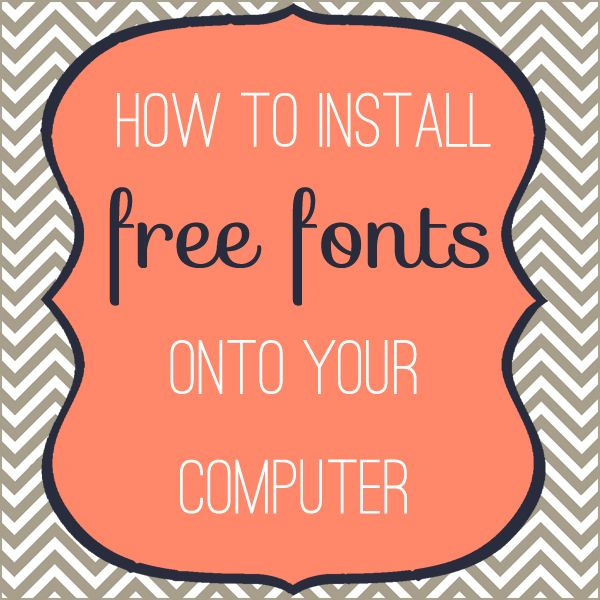 How to install free fun fonts on your computer-- nice tutorial (also including what to watch out for to avoid viruses).