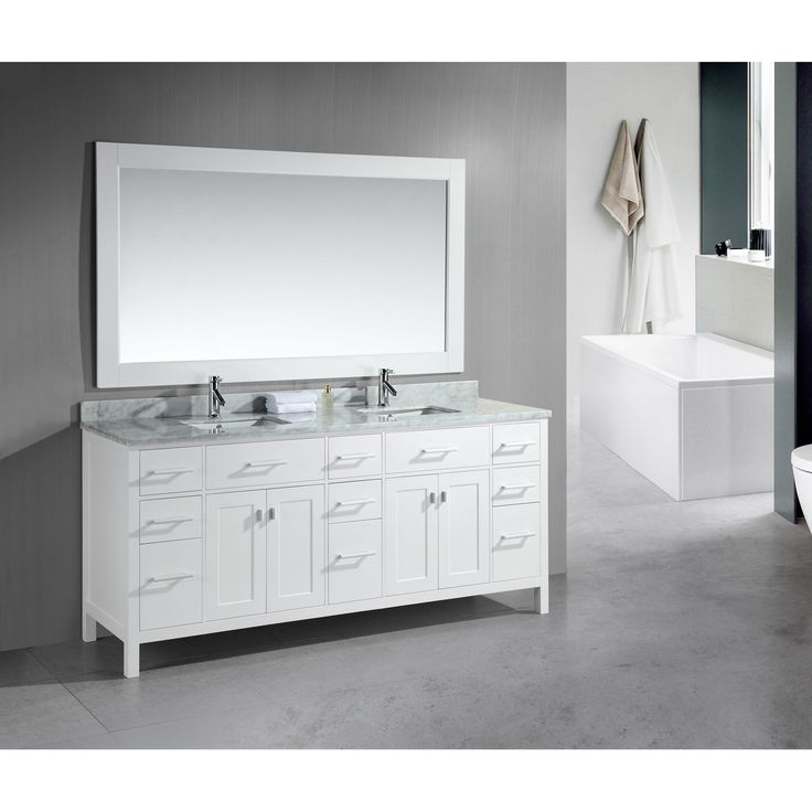 Pics On London Inch Double Sink White Vanity Set Overstock Shopping Great Deals on