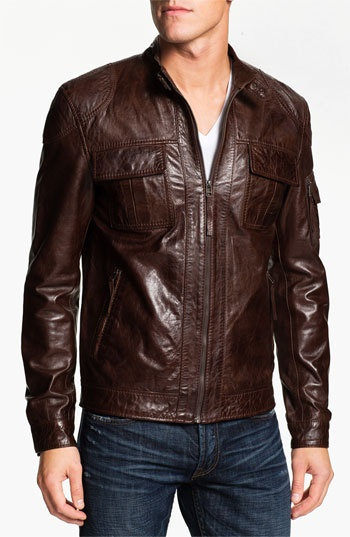 7 Diamond 'Konick' Leather Moto Jacket available at #Nordstrom