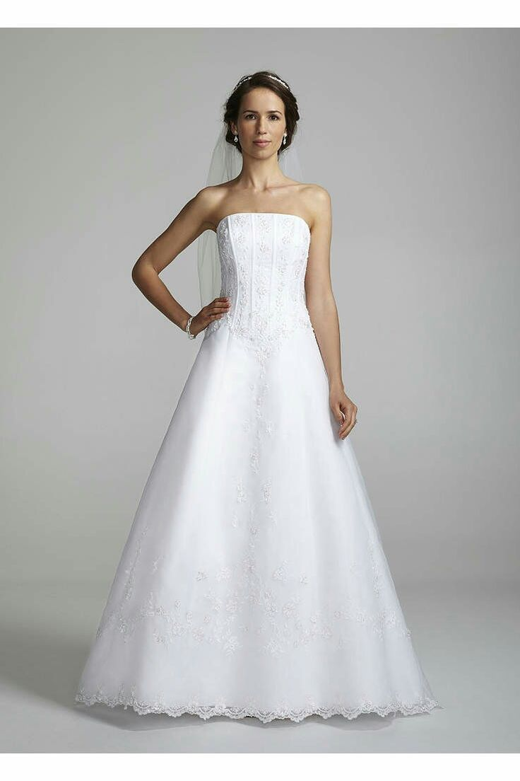 Best You will captivate everyone as you walk down the aisle in this sensational wedding gown This A line wedding gown features a beaded corset bodice that