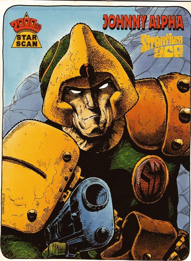 Strontium Dog Johnny Alpha Art : Carlos Ezquerra.