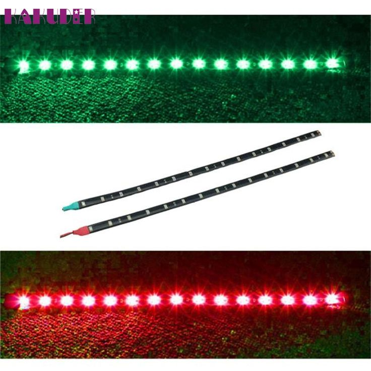High Quality 2x Boat Navigation LED Lighting RED & GREEN Waterproof Marine LED Strips #Affiliate